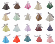 Pyramid Wedding Favour Boxes - Different Colours - SC19